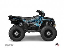 Polaris 570 Sportsman Forest ATV Evil Graphic Kit Grey Blue