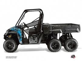 Polaris Ranger 6x6 UTV Evil Graphic Kit Grey Blue