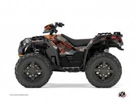 Polaris 850 Sportsman Forest ATV Evil Graphic Kit Grey Orange