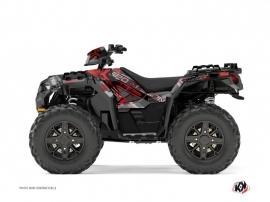Polaris 850 Sportsman Forest ATV Evil Graphic Kit Grey Red