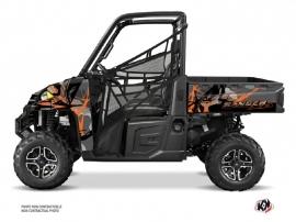 Polaris Ranger 900 XP UTV Evil Graphic Kit Grey Orange