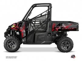 Polaris Ranger 900 XP UTV Evil Graphic Kit Grey Red