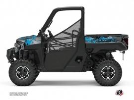 Polaris Ranger Diesel UTV Evil Graphic Kit Grey Blue