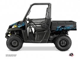 Polaris Ranger EV UTV Evil Graphic Kit Grey Blue