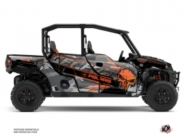 Polaris GENERAL 1000 4 doors UTV Evil Graphic Kit Grey Orange