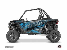 Graphic Kit Doors Origin Low Evil UTV Polaris RZR 1000 2015-2019 Grey Blue