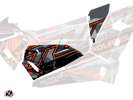 Graphic Kit Doors Origin Low Evil UTV Polaris RZR 1000 Turbo 2015-2019 Grey Orange