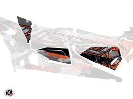 Graphic Kit Doors Origin Low Evil UTV Polaris RZR 1000 Turbo 4 Seater 2015-2019 Grey Orange