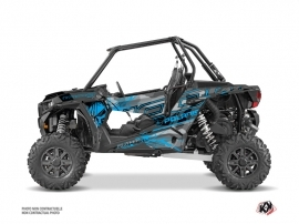 Polaris RZR 1000 UTV Evil Graphic Kit Grey Blue