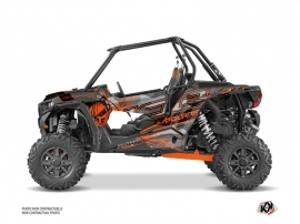 Polaris RZR 1000 UTV Evil Graphic Kit Grey Orange