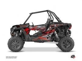 Polaris RZR 1000 UTV Evil Graphic Kit Grey Red