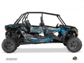 Polaris RZR 1000 Turbo 4 doors UTV Evil Graphic Kit Grey Blue