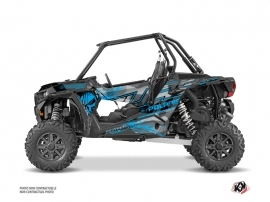 Kit Déco SSV Evil Polaris RZR 1000 Turbo Gris Bleu