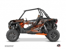 Polaris RZR 1000 Turbo UTV Evil Graphic Kit Grey Orange