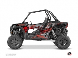 Polaris RZR 1000 Turbo UTV Evil Graphic Kit Grey Red