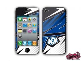 Kit Déco iPhone 4 Factory Bleu