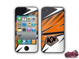 Kit Déco iPhone 4 Factory Orange