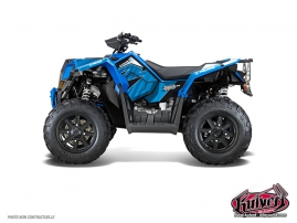 Kit Déco Quad Factory Polaris Scrambler 850-1000 XP Bleu FULL