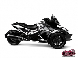 Can Am Spyder RS Roadster Factory Graphic Kit Grey