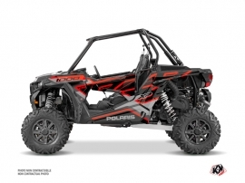 Polaris RZR 1000 UTV Faster Graphic Kit Black Red
