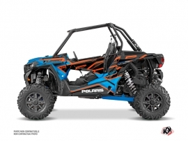 Polaris RZR 1000 Turbo UTV Faster Graphic Kit Orange Blue