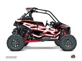 Polaris RZR RS1 UTV Faster Graphic Kit White Red FULL