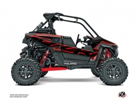 Polaris RZR RS1 UTV Faster Graphic Kit Black Red