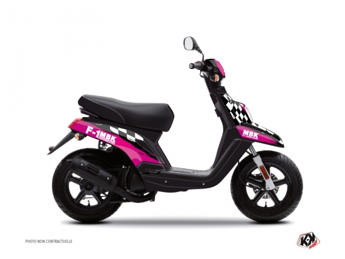 MBK Booster Scooter F1 Assistance Graphic Kit Pink
