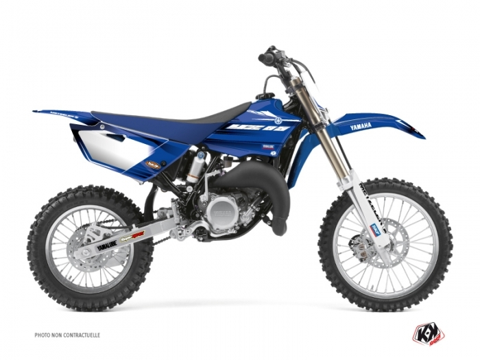 Yamaha 85 YZ Dirt Bike Basik Graphic Kit Blue