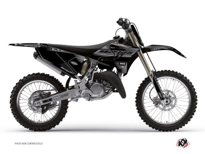 Yamaha 125 YZ Dirt Bike Black Matte Graphic Kit Black