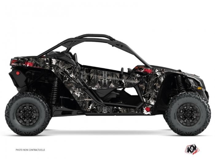 Kit Déco SSV Camo Can Am Maverick X3 Noir Blanc