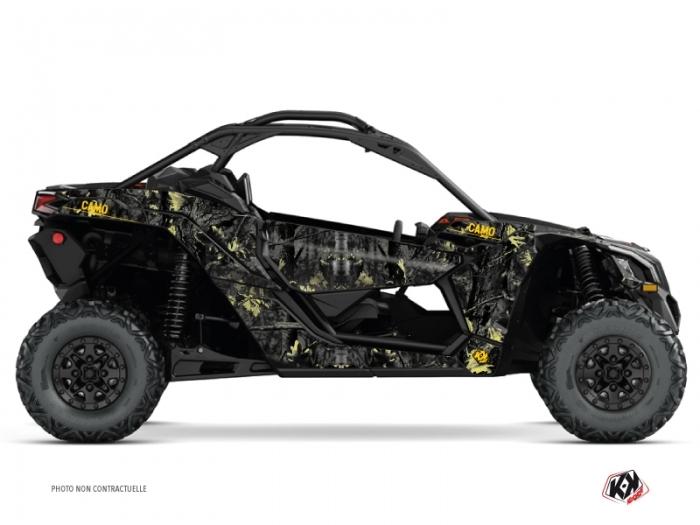 Kit Déco SSV Camo Can Am Maverick X3 Noir Jaune