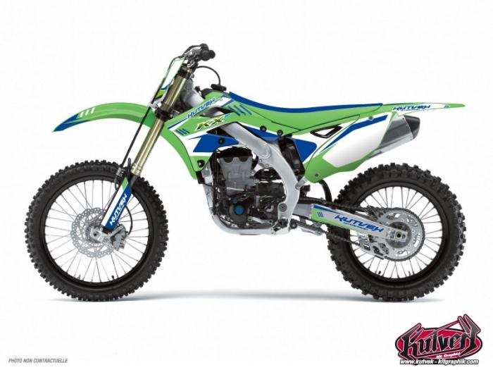 kit d 233 co moto cross chrono kawasaki 125 kx bleu kutvek kit graphik