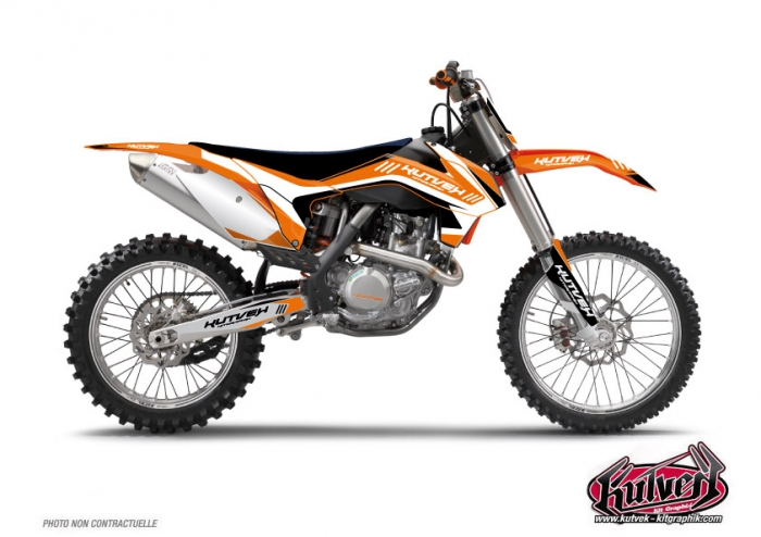 kit d 233 co moto cross chrono ktm 85 sx noir kutvek kit graphik