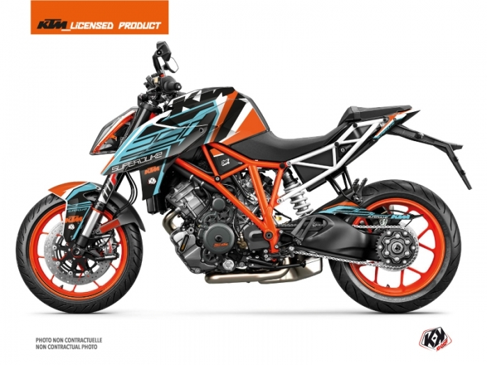 kit d co moto crux ktm super duke 1290 r orange bleu kutvek kit graphik. Black Bedroom Furniture Sets. Home Design Ideas