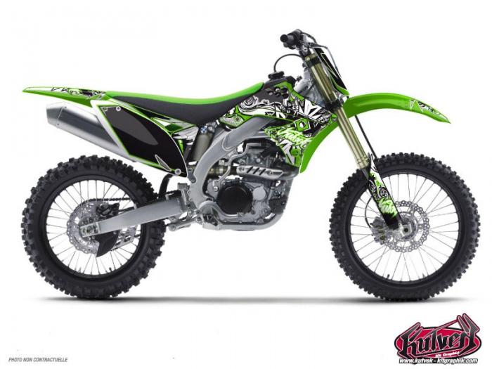 Kawasaki 125 KX Dirt Bike Demon Graphic Kit - Kutvek Kit Graphik