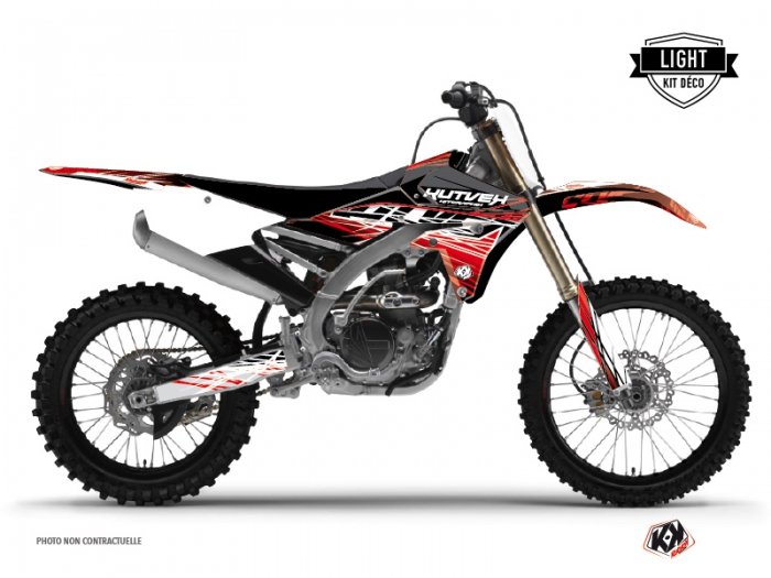 Kit Déco Moto Cross Eraser Yamaha 450 YZF Rouge Blanc LIGHT