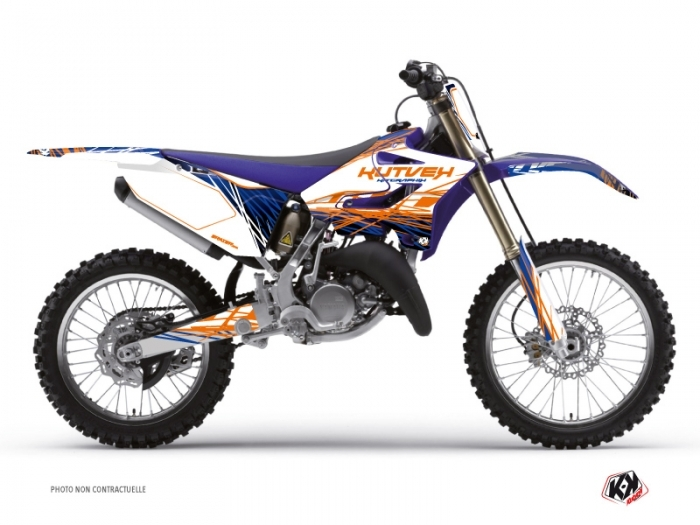 Yamaha 250 YZ Dirt Bike Eraser Graphic Kit Blue Orange
