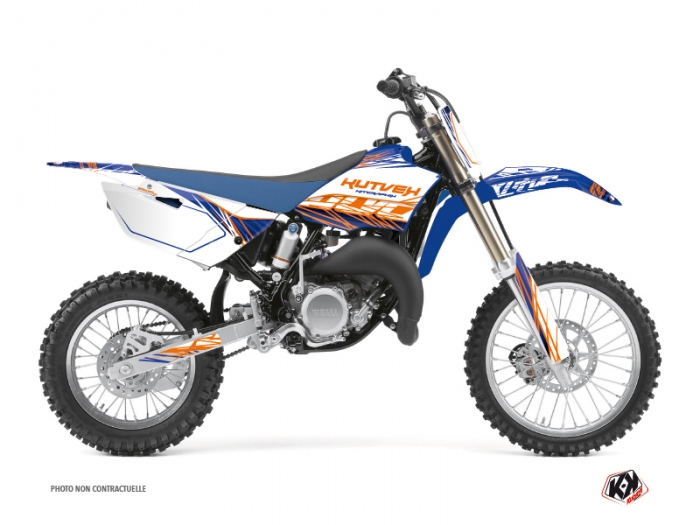 Kit Déco Moto Cross Eraser Yamaha 85 YZ Bleu Orange