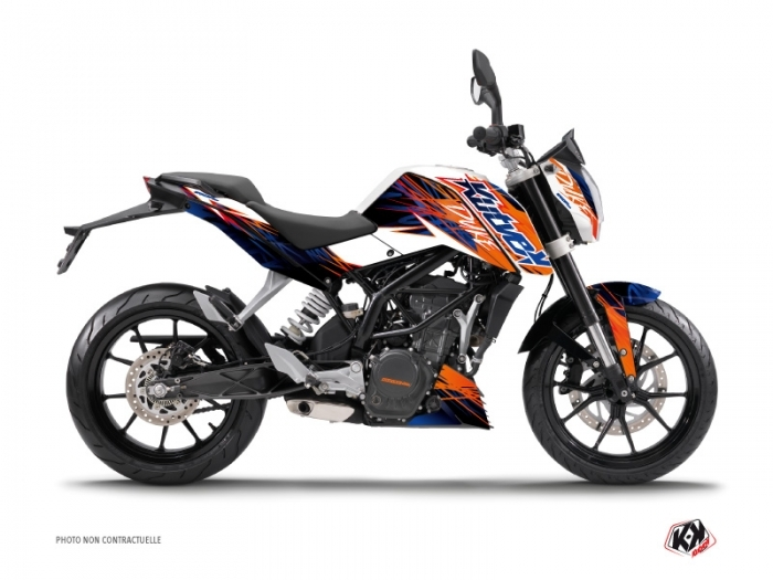 kit d co moto eraser ktm duke 125 bleu orange kutvek kit graphik. Black Bedroom Furniture Sets. Home Design Ideas