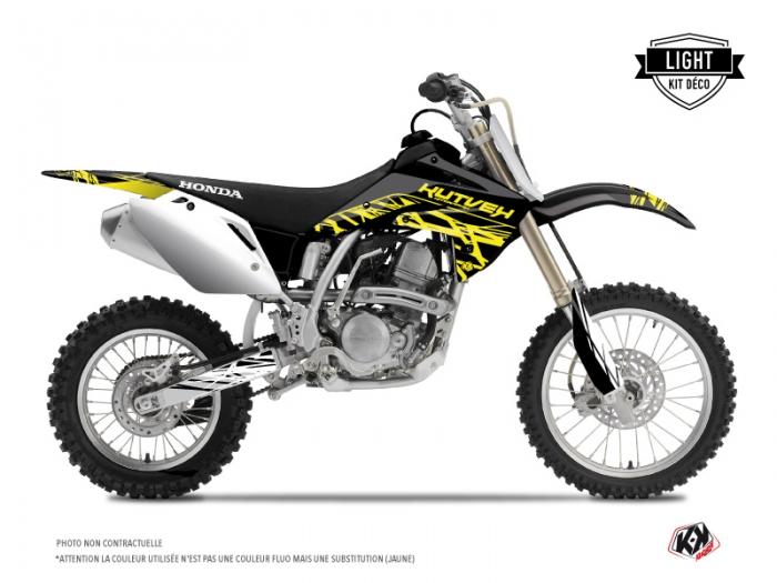 kit d co moto cross eraser fluo honda 125 cr jaune light. Black Bedroom Furniture Sets. Home Design Ideas