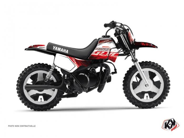 kit d co moto cross eraser yamaha pw 50 rouge blanc kutvek kit graphik. Black Bedroom Furniture Sets. Home Design Ideas