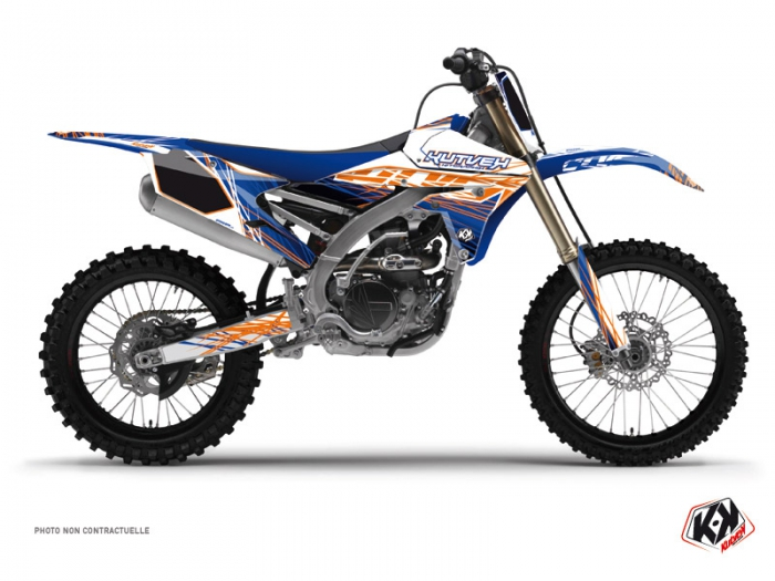 Kit Déco Moto Cross Eraser Yamaha 250 YZF Bleu Orange
