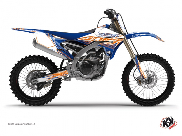 Yamaha 450 YZF Dirt Bike Eraser Graphic Kit Blue Orange