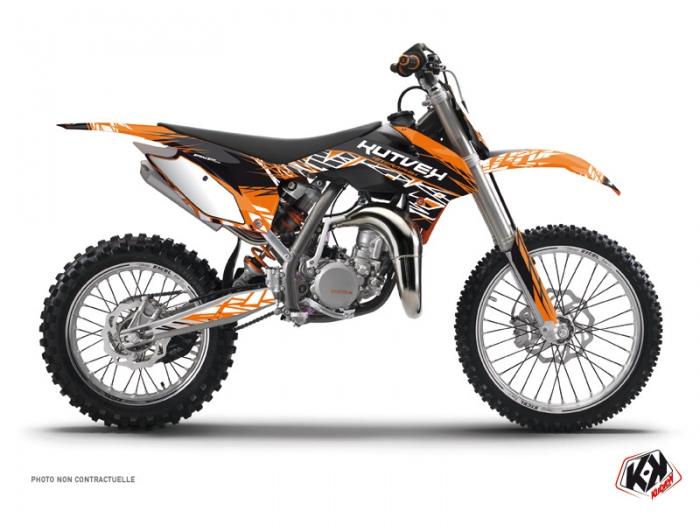 kit d co moto cross eraser ktm 85 sx orange noir kutvek kit graphik. Black Bedroom Furniture Sets. Home Design Ideas