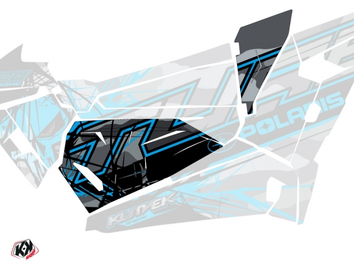 Graphic Kit Doors Origin Low Evil UTV Polaris RZR 1000 Turbo 2015-2019 Grey Blue