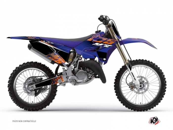 Yamaha 125 YZ Dirt Bike Flow Graphic Kit Orange