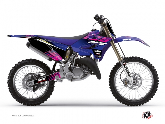 Kit Déco Moto Cross Flow Yamaha 125 YZ Rose