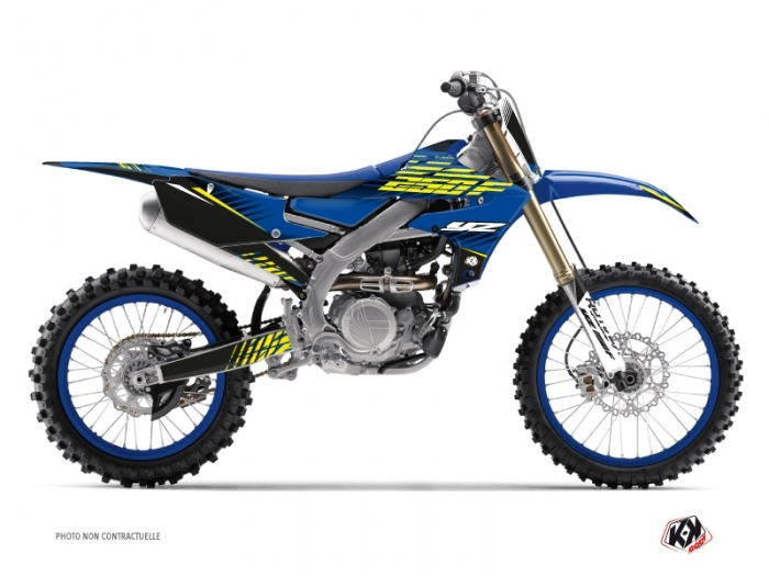 Yamaha 250 YZF Dirt Bike Flow Graphic Kit Yellow