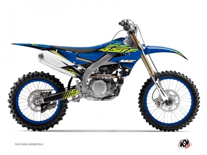 Yamaha 450 YZF Dirt Bike Flow Graphic Kit Yellow